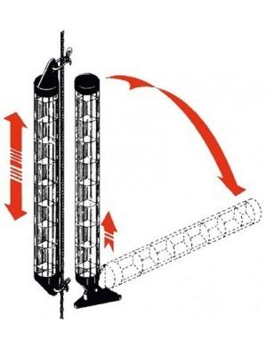 Riflettore radar tubolare compatto