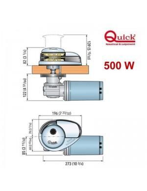Verricello QUICK CL1 500W 12V catena 6 mm