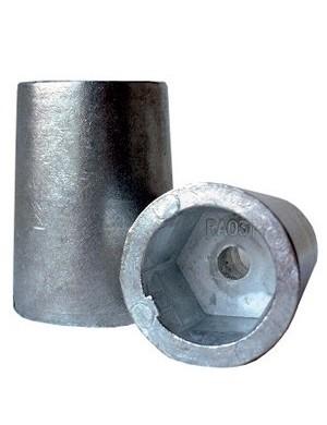Anodo ogiva inserto esagonale con chiavetta laterale