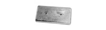 Anodo da imbullonare  300 x 150 mm interasse 125 mm