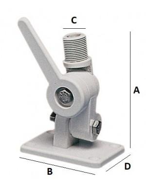 Base a doppio snodo per antenna VHF e GPS