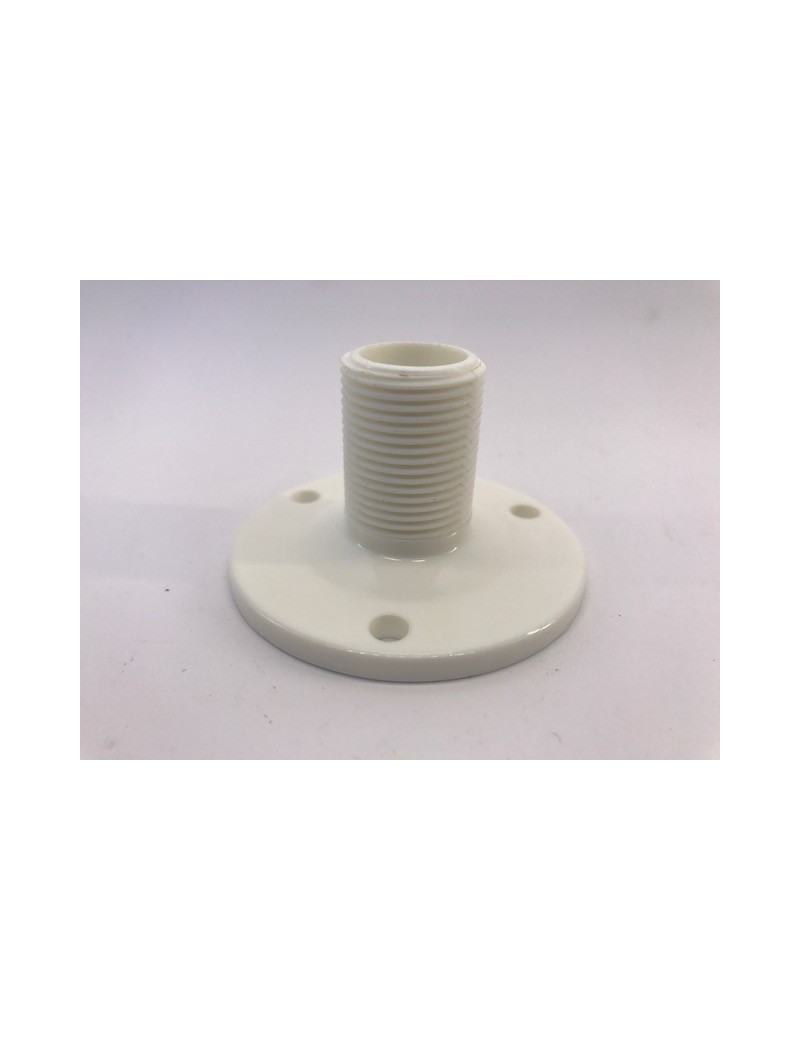 Base per antenna VHF in nylon bianco rinforzato