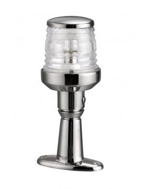Luce di testa albero Classic 360° in acciaio INOX con basetta di rialzo mm H15