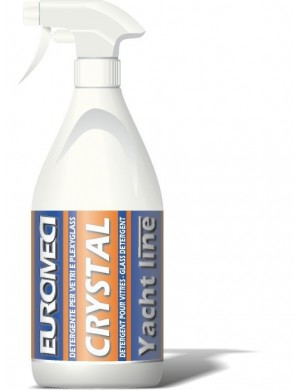 Detergente marino per vetri e plexiglas CRYSTAL Euromeci da 0,750 Lt