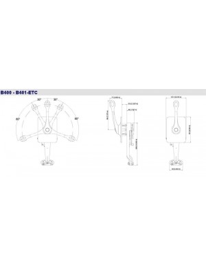 Comando monoleva inox ULTRAFLEX B400