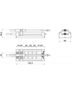 Selettore per collegare 2 stazioni di controllo, monoleva o bileva, su di un solo motore