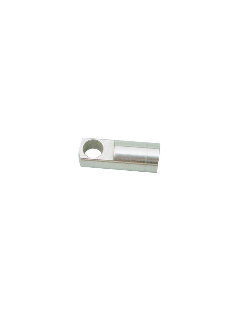 Terminale in acciaio INOX con occhiello da 10 mm e filettatura interna mm10