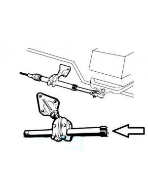 Dado in nylon di ricambio per tubo passaggio monocavi