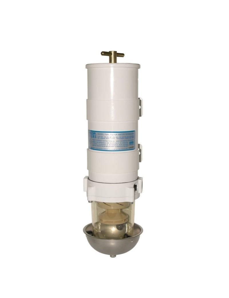 Filtro gasolio RACOR MARINE1000 MA completo di coppa inox e cartuccia filtrante