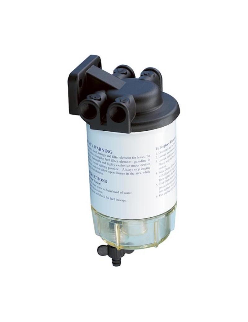 Filtro separatore acqua DIESEL 30 micron 150 lt/h per motori entrobordo Diesel