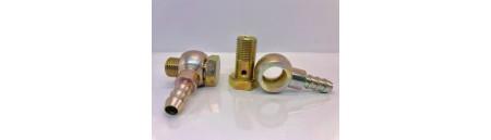 Coppia raccordi girevoli da 14 x 1,5 + 2 portagomma da 10 mm + 4 guarnizioni rame