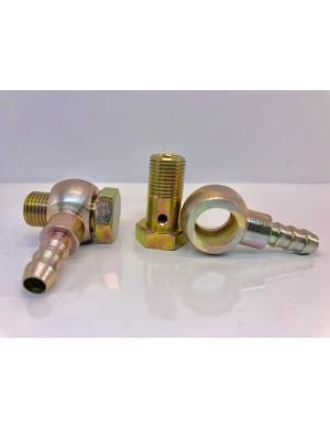 Coppia raccordi girevoli da 14 x 1,5 + 2 portagomma da 8 mm + 4 guarnizioni rame