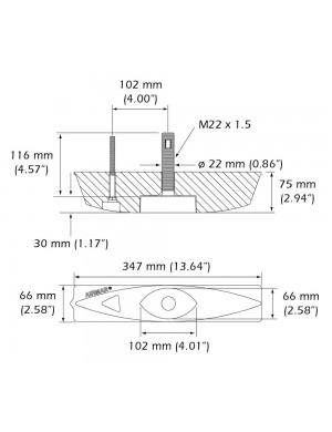 Fairing Block trasduttore Airmar B45