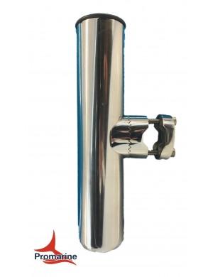 Porta canne in acciaio INOX con morsetto