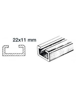 Rotaia in alluminio da cm 100 x 2,2