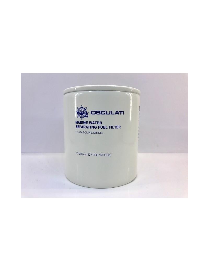 Filtro ricambio carburante separatore acqua/gasolio APERTO 30 micron per motori diesel