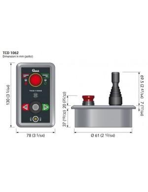 Comando elica a joystick TCD 1062