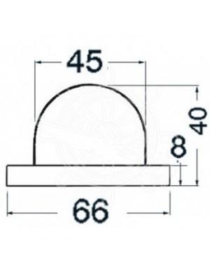 Luci di via Utility in ABS CROMATO mm 66 x H40