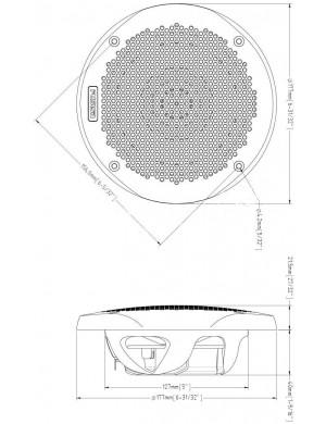 Coppia Altoparlanti FUSION MS-EL602B 150W 177mm