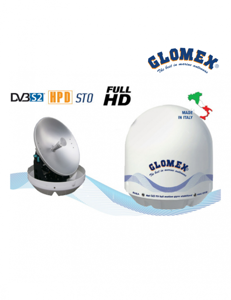 Glomex RHEA V8100S2 Antenna TV Satellitare