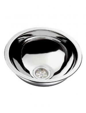 Lavello sferico inox lucido mm 390 H150