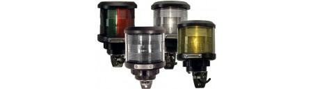 Luce di via DHR NERA CON BORCHIE  E STAFFA IN ACCIAIO INOX mm 95 x H154 (staffa a parete inclusa)