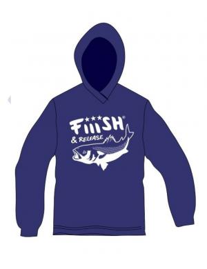 Felpa con cappuccio Fiiish - Blu Royal